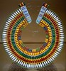 Broad Collar (ancient Egyptian necklace of faience beads) (ggnyc) Tags: nyc newyorkcity faience museum necklace beads egypt jewelry met metropolitanmuseumofart ancientegypt egyptology egyptianart egyptianwing dynasty18 broadcollar
