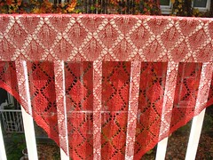 Cherry Leaf Lace shawl