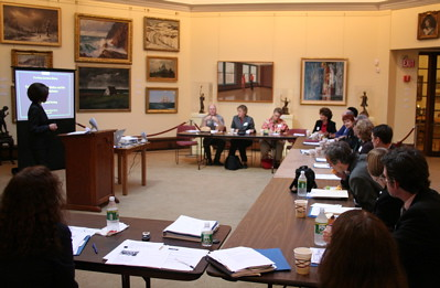Advisory board seated in Ryder gallery