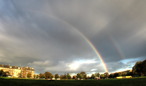Rainbow over Leith Links