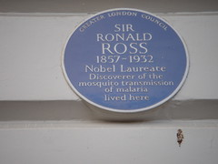 Photo of Ronald Ross blue plaque
