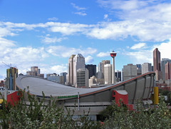 City of Calgary (njchow82) Tags: canada calgary clouds buildings saddledome cityscape landmarks alberta calgarytower cityview landscaoe njchow82