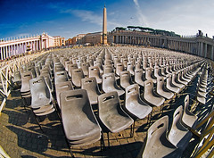 Eternal Stone (Sator Arepo) Tags: vatican rome church saint square reflex san chairs olympus fisheye vaticano peter obelisk piazza sanpietro zuiko sanpedro pietro e500 uro abigfave 8mmed zd8mmfish35 retofz080617