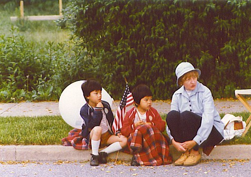 1976 July Fourth Parade (I'm in the middle)