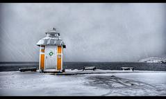 (u n c o m m o n) Tags: rescue snow yellow sweden canon350d sverige blizzard hdr smallhouse lysekil uncommon photomatix sigma1020 tonemapped marcusclaesson