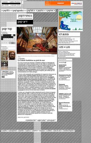 poptronics'soldes d'hiver > Anick Rivoire >La galerie Bordelaise au pie du mur