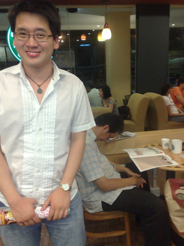 Timothy Tiah in Starbucks.