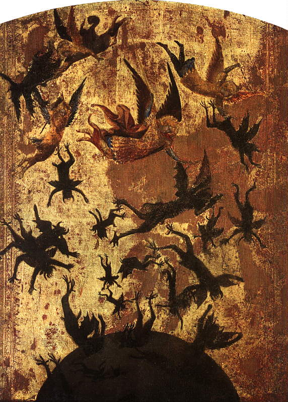 MASTER of the Rebel Angels Fall of the rebel angels, early 1300s