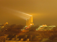 Eiffel Tower with Searchlight