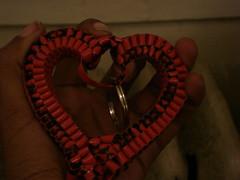 heart (pushpin_marmalade) Tags: keychain heart handmade crafts gimp plastic boondoggle lacing scoubidou plasticlacing