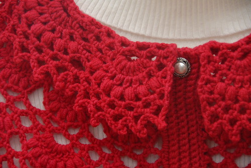 Collar of Red Capelet (closeup)