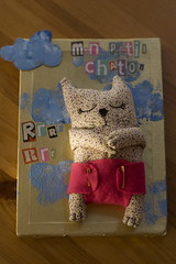 Tableau mon chaton/ my sweet kitty (Les doudous d'Eliott) Tags: baby cat chat handmade picture kitty softies tableau doudou bébé chaton création