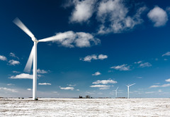 Spinning Wind Turbines in the Snow (www.toddklassy.com) Tags: blue winter sky snow motion cold color windmill field weather minnesota horizontal clouds rural landscape outdoors grid design three movement construction midwest energy technology power wind action farm conservation engineering bluesky nobody science generator planning future spinning electricity snowing copyspace agriculture polarizer blades rotary windturbine windfarm sustainable renewable windpower windenergy zoning axle bearings renewableenergy stockphotography windgenerator aerogenerator worthington wtg agribusiness colorimage ruralscene renewableresource cyclic suzlon generatingpower horizontalaxis minnesotalandscape windturbinegenerator windenergyconverter mechanicalenergy protectingourenvironment windpowerunit toddklassy windpowerdensity