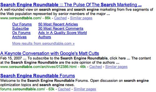 Google Bolding Query