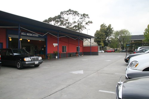 All Mercedes Parking Lot