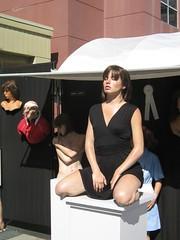 Realistic model in Tampa art festival