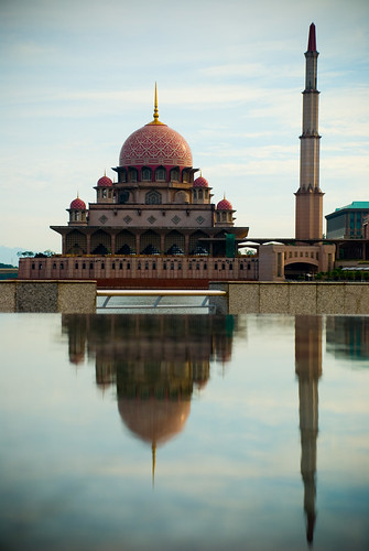 Putrajaya Mosque in reflect