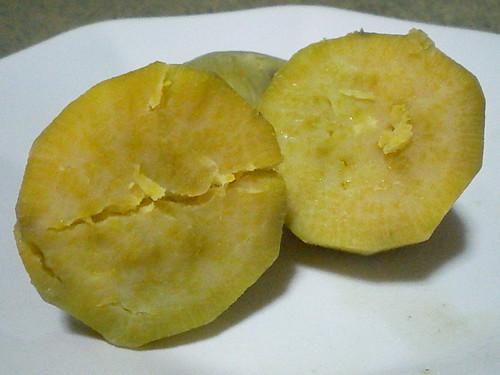 Boiled kamote