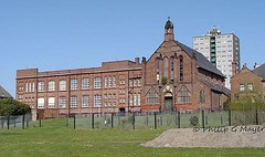 St Malachy's RC Church, School and Presbytery. April 2008. (philipgmayer) Tags: school church liverpool dingle demolished 1000 toxteth beaufortstreet stmalachy