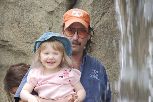 Daddy and Leda at Zoo
