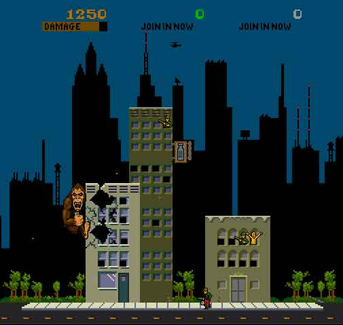 Rampage Arcade Game Screenshot