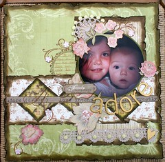 adore (*alteredgeisha*) Tags: vintage layout crochet kcompany 12x12layout