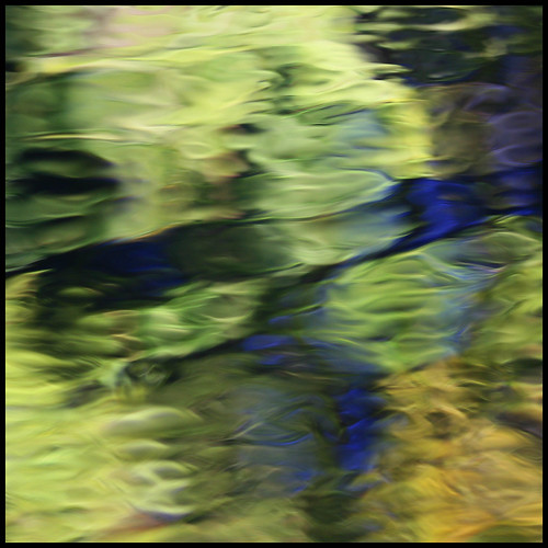 artistic abstract photograph reflections in water