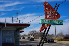 For Sale (pam's pics-) Tags: ks kansas us usa midwest america wichitakansas jacksnorthhidrivein food burgers sonya6000 closed outofbusiness pamspics pammorris neon neonsign oldsign minisapark northhi cafe restaurant