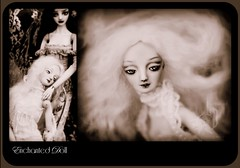 Two young girls hugging each other stylised as in a 1920's silent movie in sepia. Enchanted Doll pair. Porcelain ball jointed dolls by Marina Bychkova. Photography: Lightpainted Doll. (cureilona of Lightpainted Doll) Tags: girl girls doll bjd artdoll artistdoll filmnoir porcelain porcelainbjd balljointeddoll woman women love friendship black white sepia antique photography art artistic stylised photograph shallow depth field long hair slim beautiful beauty lace corset victorian victoriana female feminine femininity joints articulated marina bychkova ooak one kind bedroom chair sittimg hugging holding hands each other model modelling film noir silent movie star stars movies original handmade negligee lingerie sexy romantic 1920s silentmovie cinema lovers friends enchanteddoll