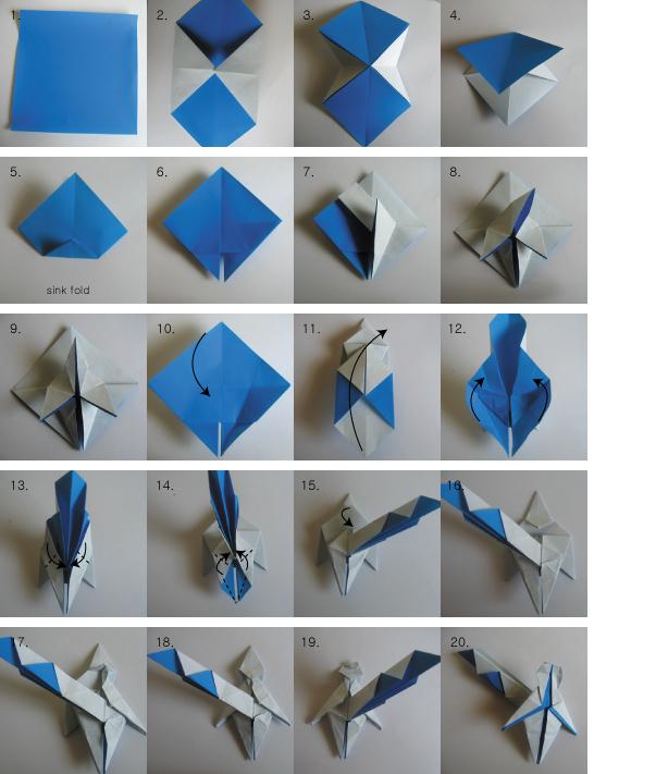 Как сделать оригами человечка из бумаги
