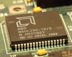 286 CPU (pasukaru76) Tags: macro computer amd oldschool electronics cpu techstuff 286 sigma105mm