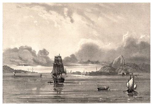 009a-Entrada a la bahia de Rio de Janeiro-Journal de la navigation autour du globe… 1837-Barón de Bouganville-fuente BOTANICUS