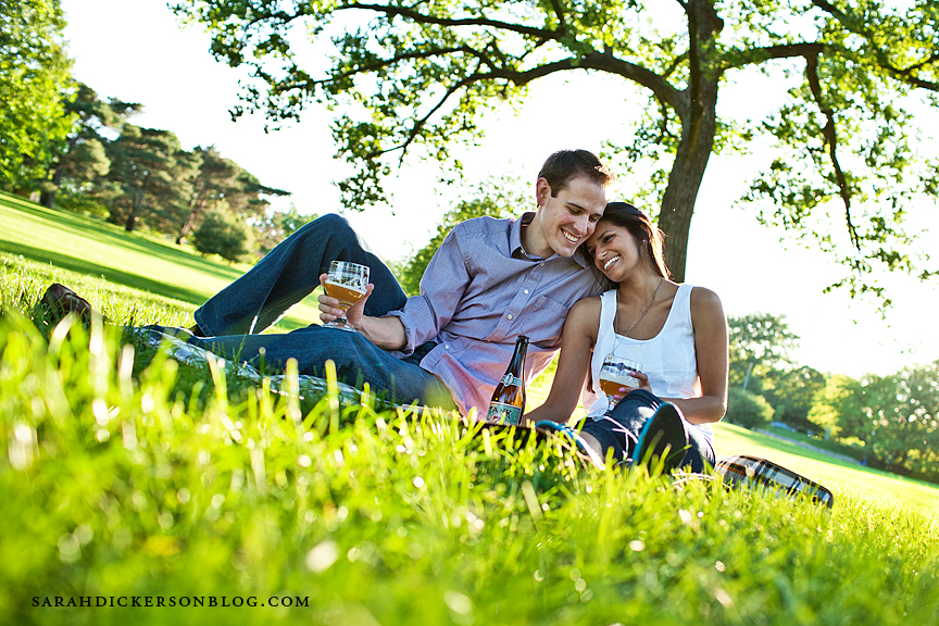 Kansas City Loose Park engagement photography