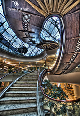 Staircase|Dubai HDR Photographer (vineetsuthan) Tags: trees windows skies staircase hdr burjamanmall nikond300s vineetsuthan dubaihdrphotographer