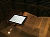iPad book on top of a Guttenberg Bible