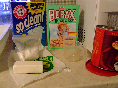 Making my own laundry soap
