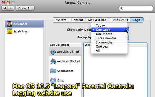 Parental Controls: Logging Website Use