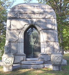 Woodlawn Cemetery: C. J. Whitney Mausoleum--Detroit MI