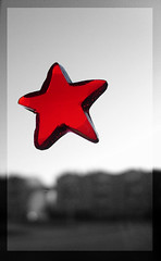 Gel-Star B&W (Siza Padovan) Tags: christmas bw star navidad stern natale estrella gel weihnacht stelle blackwithe rotrossorougerood