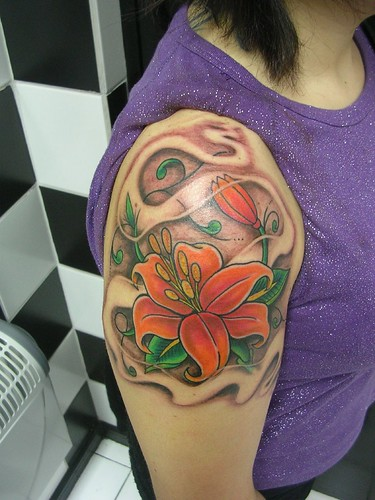 Girl Tattoo, Flower Tattoo, Fairy Tattoo