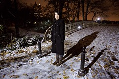Briana in the Snow | New York City (ldandersen) Tags: nyc newyorkcity bridge snow newyork centralpark posttoflickr brianamowrey