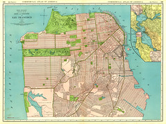 1925 San Francisco Street Map (Dollar Bin) Tags: sanfrancisco map bayarea 1925 geographile
