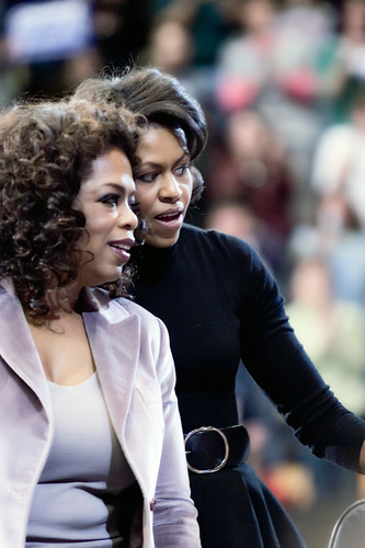 Oprah and Michelle, Cedar Rapids, IA
