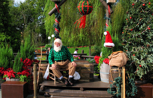 Canada's Santa Claus tells about Christmas in Canada at the Canada Pavillion in Epcot