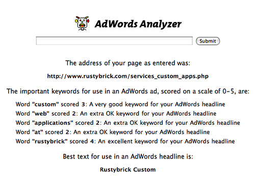 AdWords Analyzer