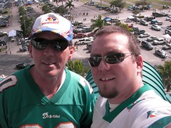 Dad and me at the stadium