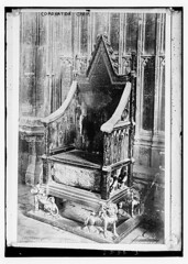 Coronation Chair  (LOC) (The Library of Congress) Tags: uk greatbritain england london english westminster abbey westminsterabbey vintage chair unitedkingdom united kingdom libraryofcongress 1910s monarchy anglican coronation emptychair coronationchair stoneofscone stoneofdestiny greatbriton xmlns:dc=httppurlorgdcelements11 dc:identifier=httphdllocgovlocpnpggbain09425 stereoscopiccoltd