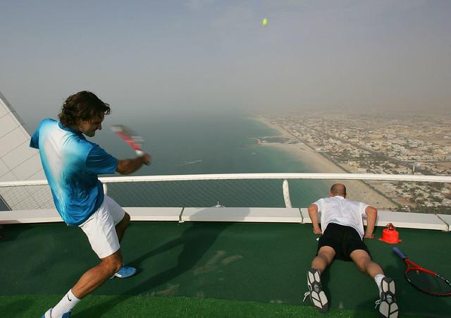 André Agassi Roger Federer Tenis Dubai