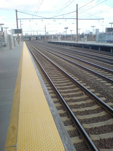 The tracks at Newark International Railway Station