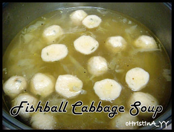Fishball Cabbage Soup